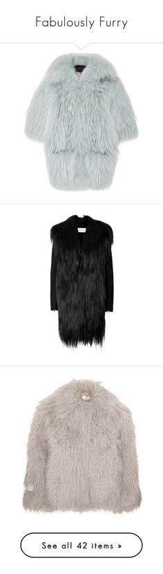 """Fabulously Furry"" by carolines-closet ❤ liked on Polyvore featuring outerwear, coats, jackets, shawl coat, helen yarmak, fur, fur coats, black, evening jackets and women"