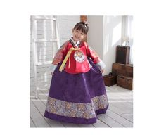 Hanbok :: Girl :: Luxury Boutique Royal Princess Korean HANBOK DRESS Red and Purple 1-2T - Selected Brand Shop - Luxemoon.com