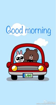 bunny and bear gif - Bing images Cute Love Pictures, Cute Love Gif, Cute Couple Cartoon, Cute Love Cartoons, Good Morning Gif, Good Morning Messages, Cony Brown, Brown Bear, Line Friends