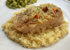 Souper Pork Chops {Slow Cooker} - seasoned pork chops and chicken and rice soup slow cooked all day - serve with additional rice for a quick meal