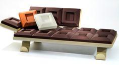 Chocolate sofa by Diego Maria Gugliermetto #chocolate #foodesign