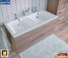 Puris Fresh Waschtisch-Set 120 cm mit Doppelwaschtisch