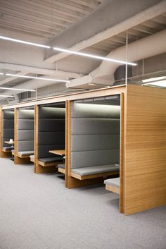 "Tour Square's Tricked-Out Office #refinery29  http://www.refinery29.com/2014/01/60592/square-office-san-francisco#slide4  Cabañas line the main ""boulevard,"" whose row of interview rooms are named after global currencies."