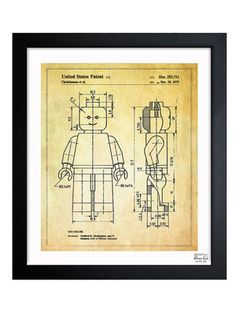 technical Lego drawing that would be great for a kid's room