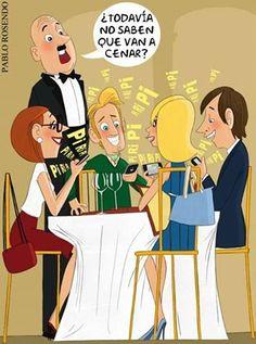 Humor gráfico - adicción
