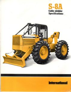 1978 INTERNATIONAL IH S8A CABLE GRAPPLE SKIDDER TRACTOR BROCHURE CATALOG