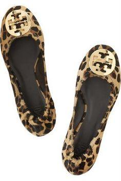 Leopard print Tory Burch Reva flats