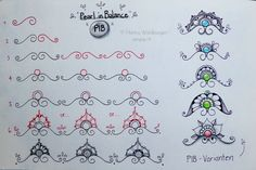 Zentangle Tangle ~ PiB ~ Pearls in Balance ~ by #CZT Hanny Nurra