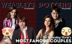 So I haven't done photomanip in a long time. I really like doing Wizarding Weekly stuff because I like. Wizarding Weekly Spread: The Weasleys and Potters Harry Potter Couples, Harry Potter Actors, Harry Potter Jokes, Harry Potter Fandom, Harry Potter World, Harry Potter Hogwarts, Harry And Ginny, Ron And Hermione, Ginny Weasley