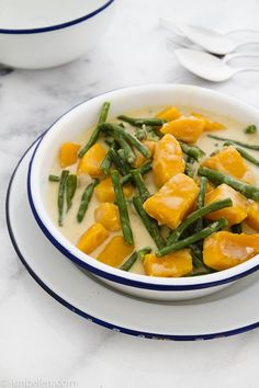 Ginataang Kalabasa at Sitaw (Butternut Squash and Yard Long Beans in Coconut Milk)