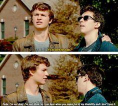 """Shouldn't we wait till it's dark?"" ""It's all dark for Isaac."""