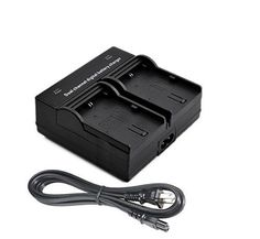 Dual Channel Battery Charger for Panasonic SDR-S50, SDR-S70, SDR-S71 Camcorder