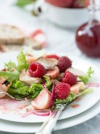 Opskrifter | Marinas mad Peach Melba, Shawarma, Vinaigrette, Fruit Salad, Strawberry, Breakfast, Recipes, Food, Morning Coffee