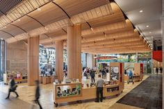 Boylston Hall, the Boston Public Library's new two-story multifunctional space.