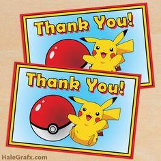 pokemon thank you card FREE Printable Pokémon Thank You Card