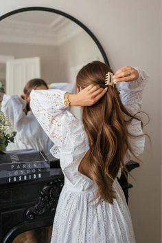 Romantic Hairstyles, Messy Hairstyles, Pretty Hairstyles, Hairstyle Ideas, Hair Inspo, Hair Inspiration, Hair Skin Nails, Dream Hair, Hair Goals