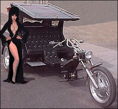 The Elvira Trike. Vw Trike, Trike Motorcycle, Custom Trikes, Custom Cars, Motard Sexy, Harley Davidson, Cool Motorcycles, Hot Bikes, Biker Girl