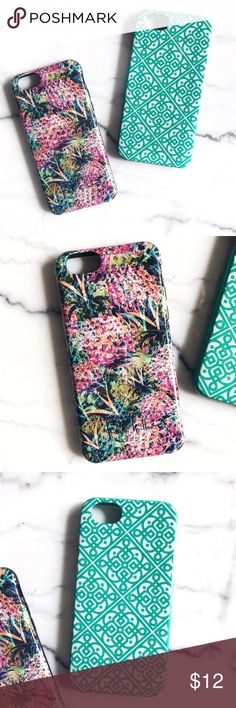 2 FOR 1  NICOLE MILLER & WAVERLY iPhone 6 Cases Both are iPhone 6 cases  super cute designs  used, but overall in good condition; on the real one  there's some color change on the silicone lining (see the pic)  both are hardshell cases, the teal one has a protective silicone lining | ❥ all orders ship the same or the next day   & include a FREE gift from me  Nicole Miller Accessories Phone Cases