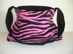 Pink and Black Zebra Print Purse - Little Girls Purse - Zebra Party Favor