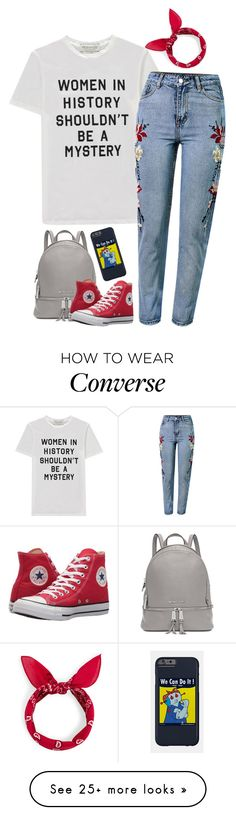 """Untitled #2989"" by pageinabook on Polyvore featuring Être Cécile, WithChic, Michael Kors and Converse"