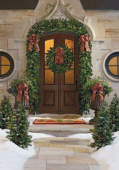 Christmas Doors Wreaths Amp Balls On Pinterest Christmas