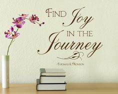 Wall Decal XL Find Joy in the Journey Tile by empressivedesigns