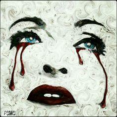 Blood Tears - Digital Artwork 50x50cm - Final Destination: Firenze - Unique Piece