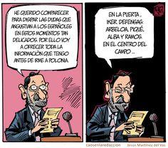 Rajoy resolviendo dudas el domingo tas el rescate