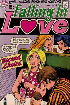 """ ""Second Choice"" "" Falling In Love #112 - DC Comics, January, 1970 [And btw, this original comic is now for sale in my Etsy shop:..."