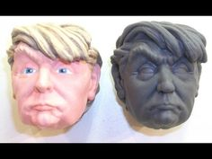 Printed Model of Donald J. Trump Made into a Squeezable Toy – MatterThings Inc. 3d Prints, Toy, Printed, Portrait, Model, Collection