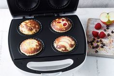 Pie maker condensed milk muffins Cooked in a Kmart pie maker so they're ready in 20 minutes, this one simple muffin batter can be used to make 4 different types of muffins: raspberry, choc chip, apple and fairy bread. Muffin Recipes, Apple Recipes, Bread Recipes, Cooking Recipes, Just Pies, Muffins, Fairy Bread, Condensed Milk Recipes, Flaky Pastry