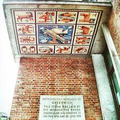 Entrance portico art at #Greenwich borough hall