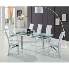 Trends Interiors Ravenna Maxim Extendable Dining Table and 6 Chairs