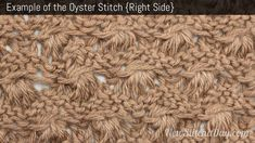 Example of the Oyster Stitch. (Right Side)