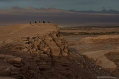 Valle de la Muerte ao entardecer
