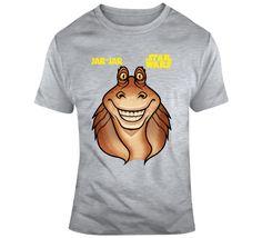 Jar Jar Bink Star Wars T Shirt Star Wars Tshirt, Movie T Shirts, Jaba, Gifts For Friends, Stars, Prints, Mens Tops, Movies, Cotton
