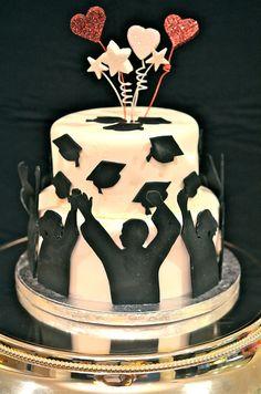Fondant covered Graduation Cake