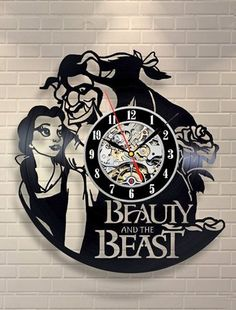 Beauty & Beast Vinyl Clock - FREE SHIPPING