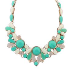 European And American Fashion Hit Color Exquisite Bib Necklace Flower[US$10.19]shop at www.favorwe.com