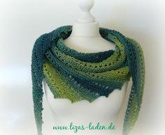 """Sommertuch """"Ocean"""" aus edlem Pro Lana Garn (Design Martina Brehm, leicht abgewandelt)"""