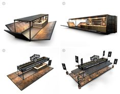 Shipping Containers 562598178449697795 - Jack Daniel's Container Bar on Behance Source by ShopQotakuDesign Shipping Container Restaurant, Shipping Container Design, Shipping Container House Plans, Shipping Containers, Container Coffee Shop, Cargo Container, Container Architecture, Cafe Interior Design, Cafe Design