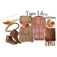 Tiger Lily from Peter Pan By DisneyBound Disney Themed Outfits, Disney Bound Outfits, Disney Dresses, Disney Clothes, Tiger Lily Peter Pan, Princess Tiger Lily, Disney Inspired Fashion, Disney Fashion, Jm Barrie