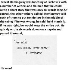 The shortest sad story ever written!