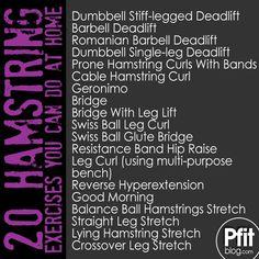 20 hamstring exercises