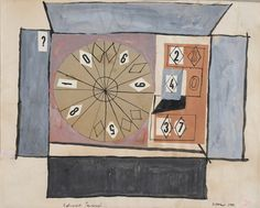 Eduardo Paolozzi, Shooting Gallery, ink, gouache and collage on paper. at Wilson Stephens and Jones collage exhibition Eduardo Paolozzi, Stephen Jones, Gouache, Contemporary Artists, Art Decor, Pop Art, Art Gallery, Illustration, Ink