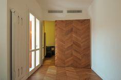 #tissellistudio secret closets wood on wood, yello
