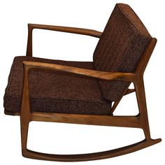 Single Rocking Chair by Ib Kofod-Larson for Selig, circa 1955 Made in Denmark | From a unique collection of antique and modern rocking chairs at https://www.1stdibs.com/furniture/seating/rocking-chairs/