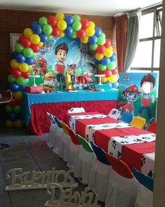 Welcome to Paw Patrol Glow Third Birthday, 4th Birthday Parties, Boy Birthday, Birthday Ideas, Paw Patrol Party, Paw Patrol Birthday, Paw Patrol Pinata, Paw Patrol Balloons, Baby Party