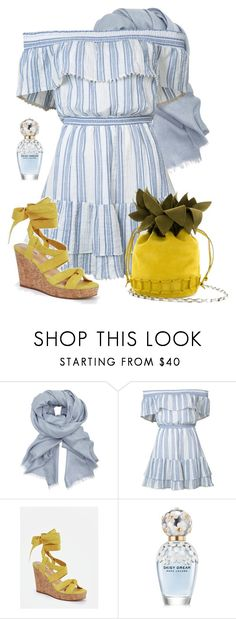 """Summer Dress"" by lbite ❤ liked on Polyvore featuring John Lewis, LoveShackFancy, JustFab and Marc Jacobs"