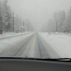 Winter driving.